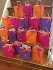 Mothers Day gift bags Grassroots 2014 turned